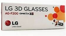 2 Pairs LG 3D TV Theater 3d Glasses AG-F200 LW5600 LW5700 LW6500 + Other TVs