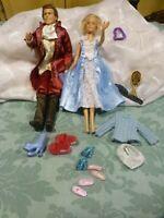 lot=le prince ken ,sa fiançée  chaussures ,vétements etc.11piéces