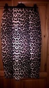 Jane Norman animal print midi skirt size 8