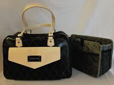 Mary Kay Tote Travel Consultant Bag Organizer Caddy Black Lt Pink Handles NICE!