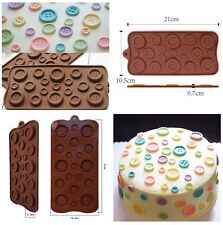 New 1 Pcs Button Baking Cake Chocolate Candy Jelly Ice Mold Silicone Mould US