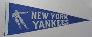 NEW YORK YANKEES 1940's AAFC (football) 1946-48 FULL SIZE PENNANT