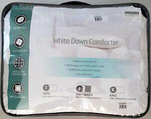 Puredown Queen All Seasons Natural White Down Comforter Baffle Box Construction