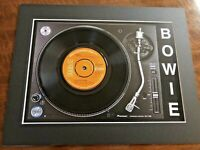 """David Bowie - Golden Years - Genuine 7"""" Single Mounted on Record Player Print"""