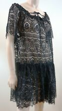 LOVER THE LABEL HARVEST Black Lace Spellbound Mini Evening Dress UK12; US8 BNWT