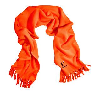 Percussion Fleeceschal mit Stickerei orange, Jagd, Treibjagd, Warnbekleidung