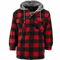 Men's Trail Crest Red & Black Plaid Thurmond Sherpa Lined Hooded Jacket