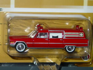 JOHNNY LIGHTNING 1966 66 CADILLAC AMBULANCE -Red, LIMITED TO 3600 MIP
