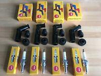 HONDA CB500 K1-3/F 75-77 CB550 F F1-2/K3 78-80 NGK SPARK PLUGS AND BLACK CAPS