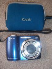KODAK EASY SHARE C190 BLUE DIGITAL CAMERA With Case