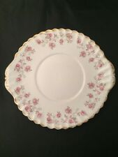 More details for queen anne harmony rose plate biscuit sandwich rose design made in england
