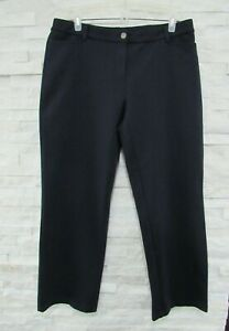 NWT Eileen Fisher Ink Heavyweight Rayon Knit Zip Front Modern Straight Pant PL