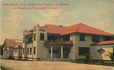 1907-15 Print Postcard Bath House Paso Robles Hot Springs CA San Luis Obispo Co.