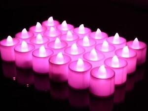 LED Votive Candle-Pink 24 Pieces Flamless