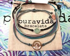 NWOT PURA VIDA AQUAMARINE WAVES BRACELETS LOT - see desc for special discount