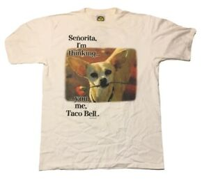 Vintage Taco Bell T-Shirt Size Large Mexican Fast Food Double Sided 90's Promo