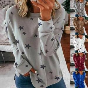 Women Long Sleeve Sweatshirt Blouse Ladies Loose Pullover Jumper Tops T-Shirt fr