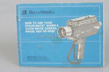 Bell & Howell Super 8 CAMERA Movie Camera 493F 493SF ORIGINAL Instructions