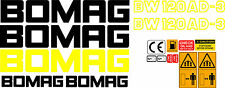 BOMAG BW 120AD-3 VIBRATING ROLLER DECALS STICKERS