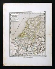 1865 Sydow Map - Holland - Amsterdam Antwerp Zeeland Brabant Brussels Luxemburg