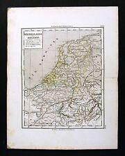 1865 Sydow Map - Holland - Amsterdam Antwerp Zeeland Brabant Brussels Luxemburg