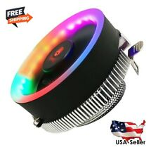 RGB LED CPU Cooler Fan Heatsink For Intel 775/1156/1155/1151/1150 AMD AM2/AM2+