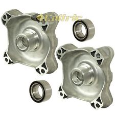 FRONT LEFT RIGHT WHEEL HUBS and BALL BEARINGS Fits POLARIS RZR S 800 EFI 2009-14