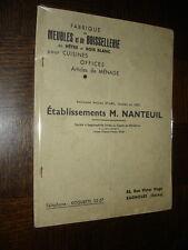 CATALOGUE 1936 - Et M Nanteuil - Bagnolet Meubles et boissellerie - Menuiserie