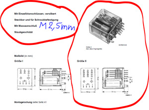 Siemens Relais 2 Wechsler 5A/250V≂ Spule 30-75 VDC 3,2KΩ±15% (V23154-D0726-F104)