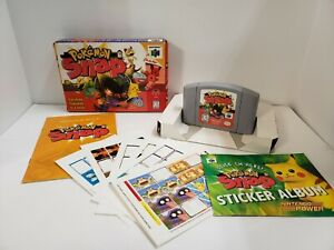 Pokemon Snap (Nintendo 64, N64, 1999) NEAR Complete in Box AUTHENTIC TESTED