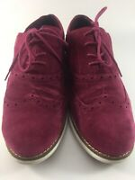 Womens COLE HAAN Grand OS sz 10.5 RUBY / WHITE SUEDE Casual Designer SHOES