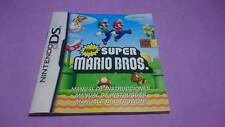 Instruction manual new super mario Bros.. (no GAME!)
