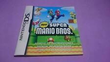 Manual de Instrucciones New Super Mario Bros. ( no juego!)