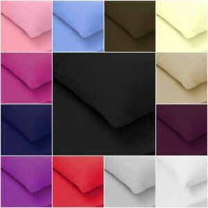 Soft Luxurious Feel Cotton Fitted Sheet Flat Sheets 200TC Single Double King