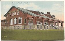 Country Club in Quincy IL Postcard