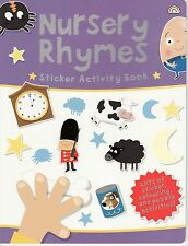 YOUNG CHILDREN'S STICKER ACTIVITY COLOURING PUZZLE BOOK - NURSERY RHYMES