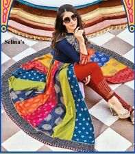 Indian Kurta with Bottom Pant Palazzo Kurti Dress Women Ethnic Top Tunic
