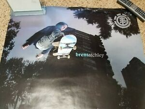 Helium Board BRENT ATCHLEY Reversible Skateboard Poster 27 x 39 in GUC