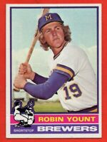 1976 Topps #316 Robin Yount EX+ WRINKLE HOF Milwaukee Brewers FREE SHIPPING
