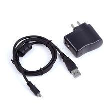 USB AC Power Adapter Battery Charger Cord For Panasonic DMC-TZ30 DMC-ZS15 Camera