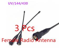 3 Pcs UV Dual Segment Antenna 144/430 Fits TG-UV2 Baofeng UV5R Series UVD1P