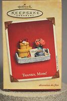 Hallmark - Thanks Mom! - Basket with Flowers, Coffee & Present - Ornament