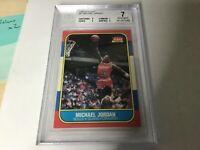 1986 Fleer Basketball Michael Jordan ROOKIE RC #57 BGS 7  w2 8 PSA ?