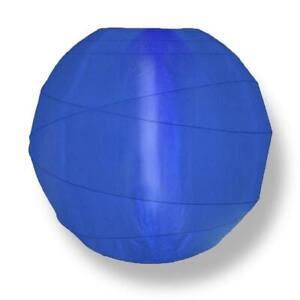 "14"" Dark Navy Blue Crisscross Nylon Lantern Durable, Hanging Decorationn"