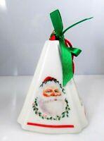 Vintage Christmas Tree Santa Ceramic Holiday Ornament With Festive Fragrance
