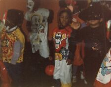 Vintage Photo Halloween Parade in School Hallway Casper Transformer Costume