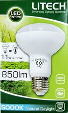 1 x LED 11W Reflector Globe Bulb R80 Screw E27 Cool White / Daylight 5000K 850Lm