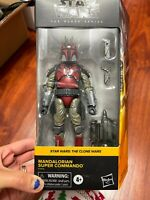Star Wars Black Series Mandalorian Super Commando The Clone Wars Hasbro Figure