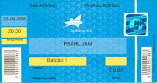 Pearl Jam Used Concert Ticket Portugal 05-09-2006