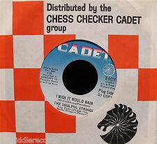 THE SOULFUL STRINGS-I Wish It Would Rain-Mod Soul Funk 45-CADET #S-5633-TOP!
